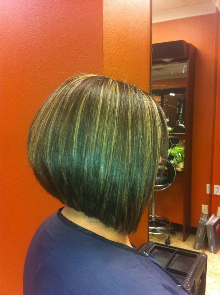 Box haircut with line