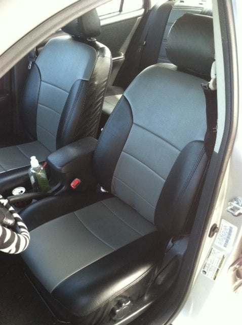 toyota corolla 2004 front seats with vinyl seat covers yelp. Black Bedroom Furniture Sets. Home Design Ideas
