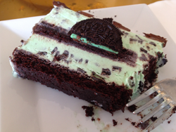 Yummy mint chocolate chip ice cream cake! | Yelp