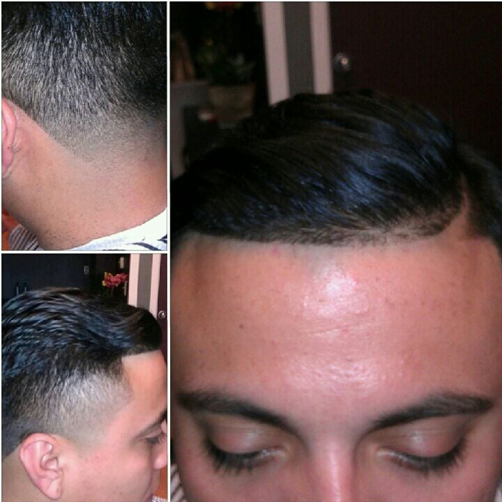Barber Vacaville : Comb over part with high taper Yelp