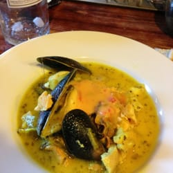 Seafood chowder with rouille