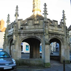 Malmesbury Cross, dated to 1490. Please make this a car-free zone!