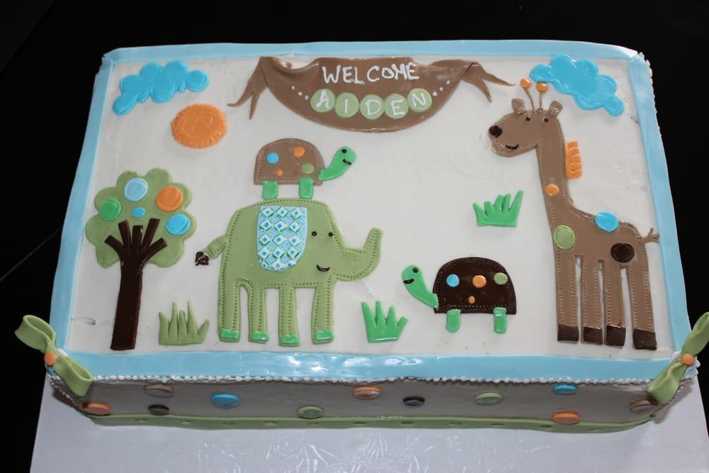 giggle gang themed baby shower cake yelp