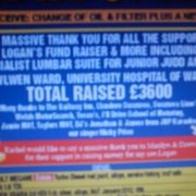 it were joy to help got £3600 to help logan bird and junior judd and kids i love it xx