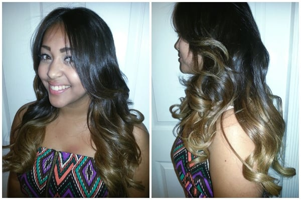 Balayage Ombre Highlights Dark Hair Balayage ombre highlights by: