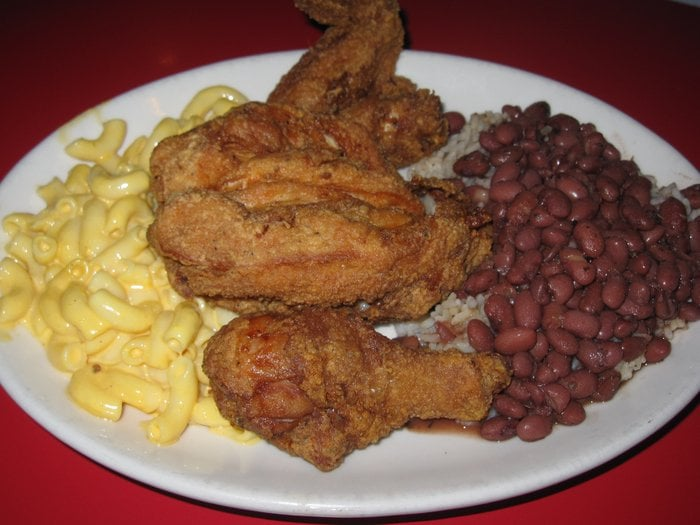 Fried Chicken w/ Red Beans & Rice and Mac n Cheese | Yelp