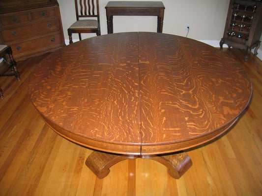 Refinish Oak Table ~ Dining table oak refinish