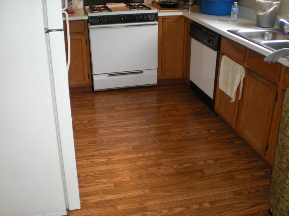 This Is A Vinyl Floor With A Wood Grain Pattern Let Us