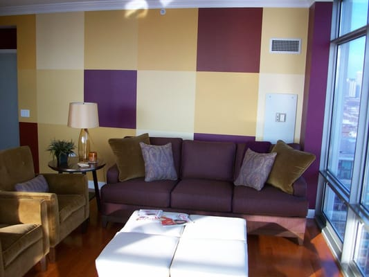 Color Blocks Custom Painting on living room and accent walls | Yelp