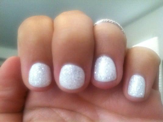Gel manicure, color- white diamond | Yelp