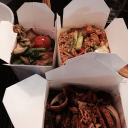 Special fried rice, duck tamarind and stir fried veggies.