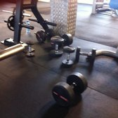 These dumbbells have been left here in the middle of the gym -- easy to trip over.  Both inconvenient and dangerous.