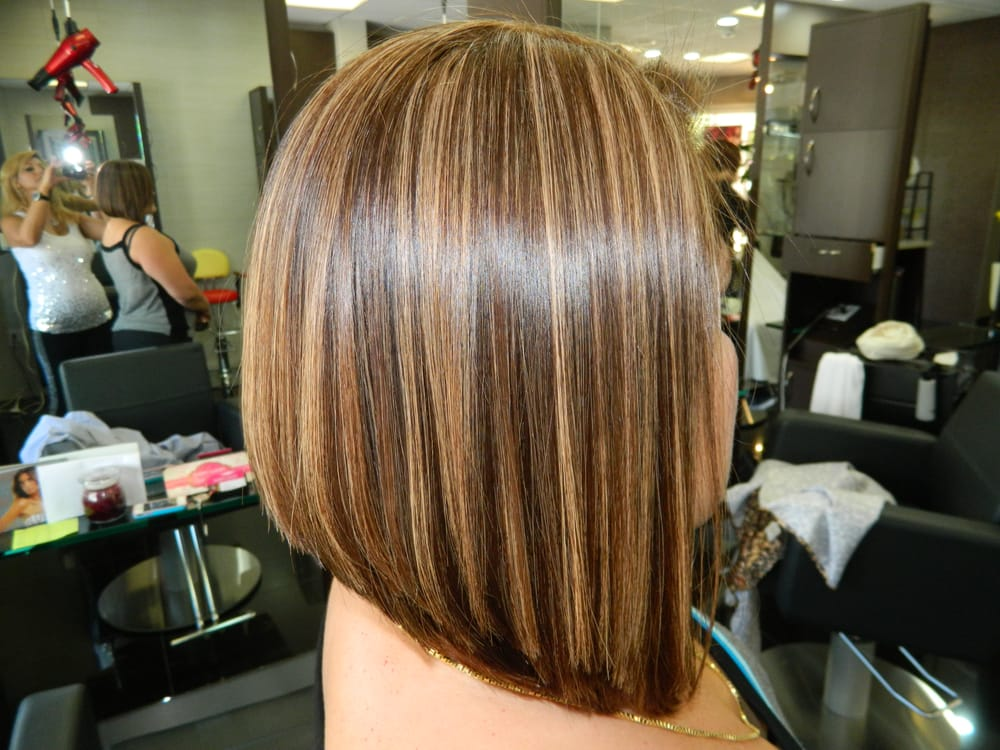Line Bob Haircuts with Highlights
