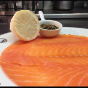 Chef's finest Smoked Salmon at Boisdale of Belgravia