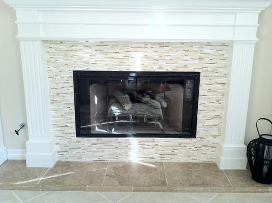New Mosaic Tile Fireplace Yelp