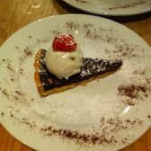 Chocolate tart, amazing'