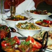 Selection of dishes at Edinburgh's The Clay Oven