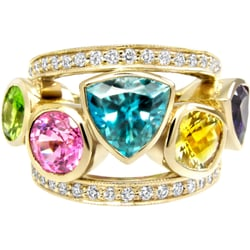rainbow gemstone ring