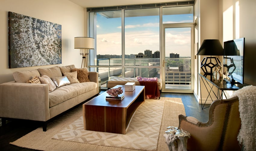 Model apartment home one bedroom plus den yelp for Apartment model homes