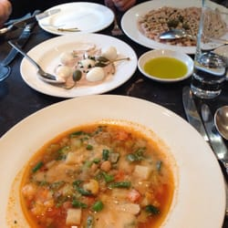 Vitello, minestrone and cichetti