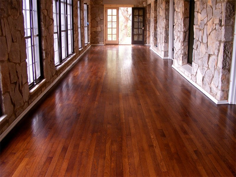 Refinished antique oak with chestnut stain and natural wax durafinish ...