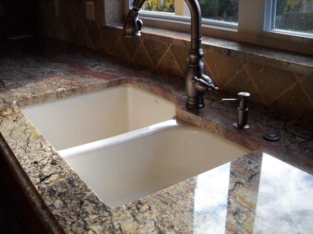 stone slab install with undermount sink yelp. Black Bedroom Furniture Sets. Home Design Ideas