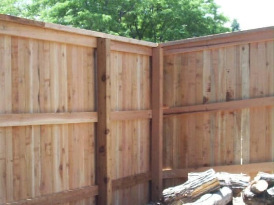 Cedar Privacy Fence With Cap And Trim Yelp