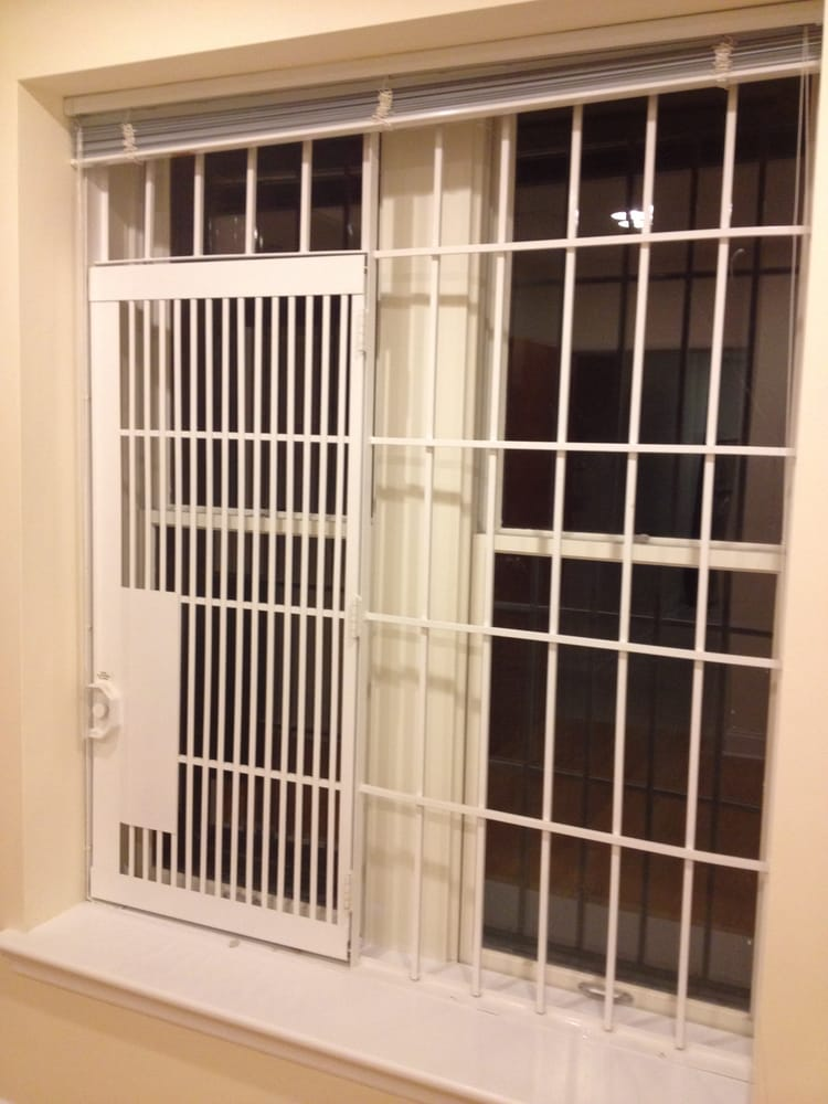Double Hung Fdny Approved Window Security Gate With Door