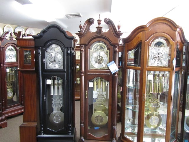 Outside Of Grandfather Clocks For Sale Circle With Over