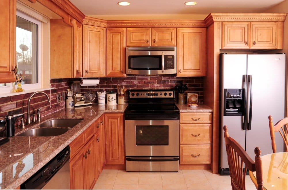Honey Maple Cabinets with granite countertop -- Sewell, NJ ... on Granite Countertops With Maple Cabinets  id=89157