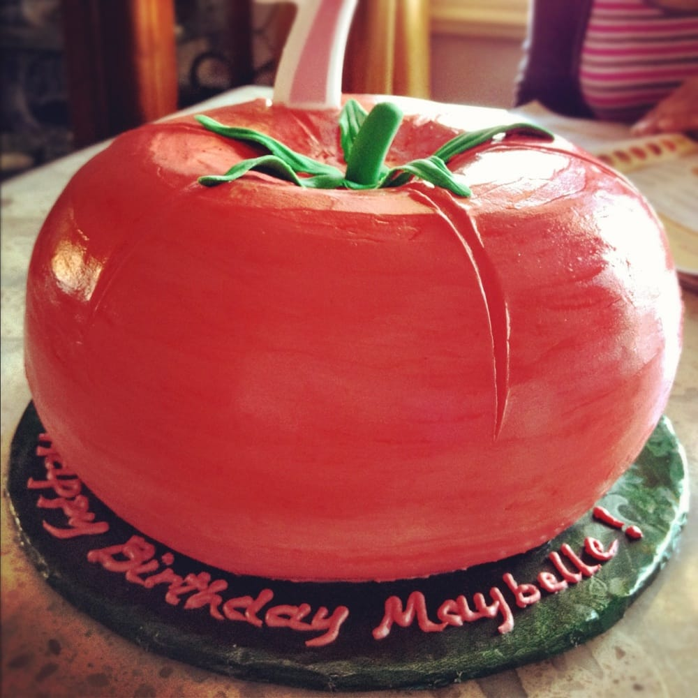 Tomato Shaped Cake Vanilla Cake With Strawberry Filling
