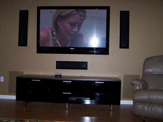 Home Entertainment System With Wall Mounted Tv Amp Speakers