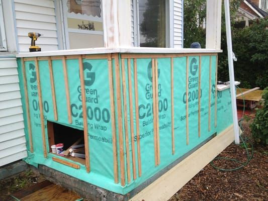 House Wrap And Strips Before Hardiboard Siding