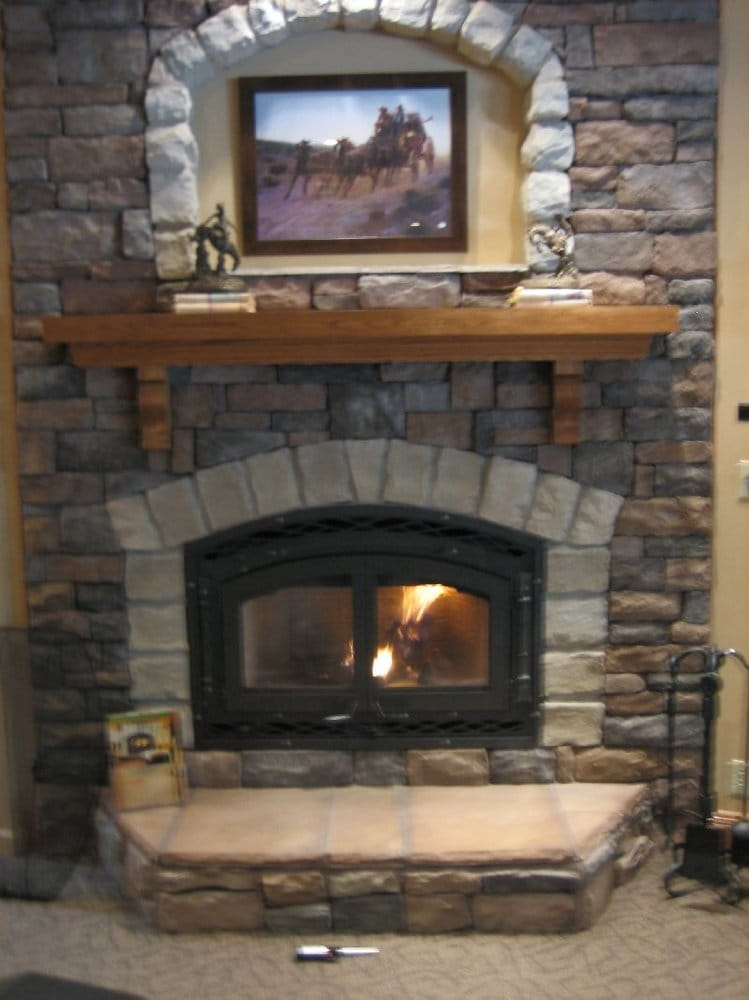 High Efficency Wood Burning Fireplace Displayed In Our