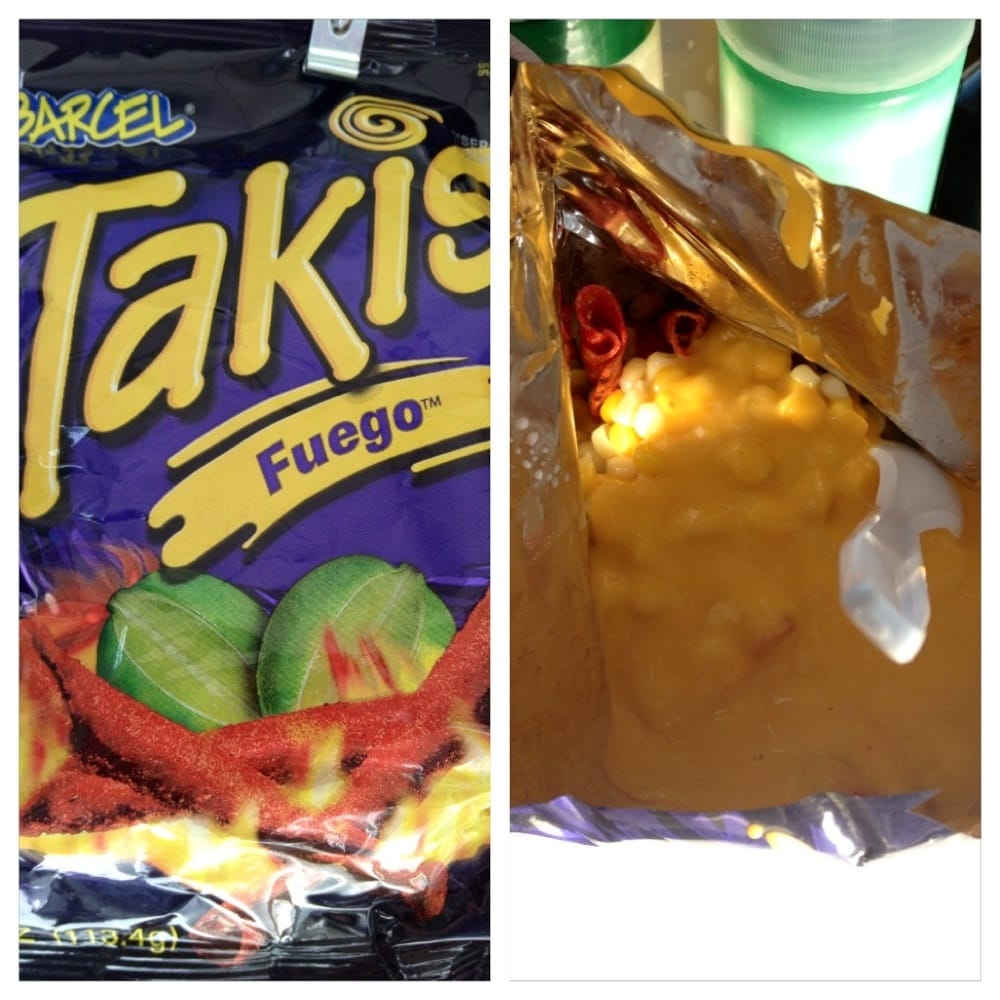 Takis With Corn And Nacho Cheese Yelp