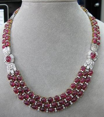 Cartier Paris Burma Ruby Diamond Necklace Circa 90 S Yelp