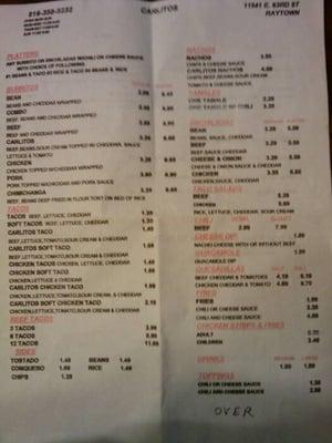 El Maguey Restaurant Menu