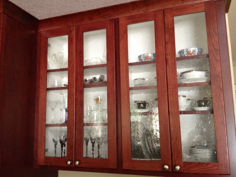 Custom Cabinet Doors With Glass Panes By The Cabinet