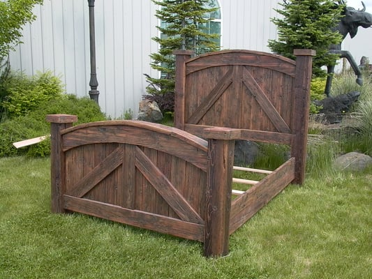 Old West Bed Made Of Reclaimed Wood American Made In Our
