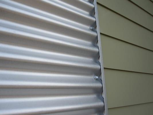 Custom Corrugated Metal Siding With Vinyl Siding Yelp