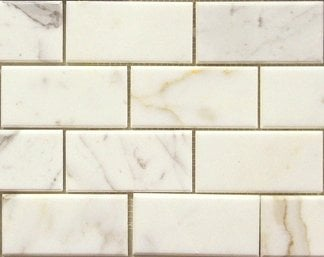 12 95sf Calacatta Gold 3x6 Quot Marble Subway Tile Yelp