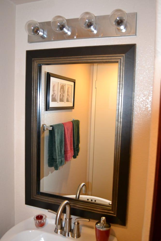 Bathroom mirror frame mirror frame kit modern black - Mirror frame kits for bathroom mirrors ...