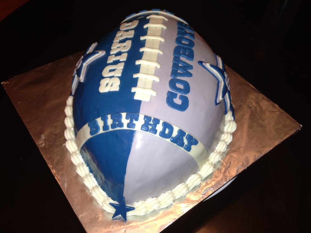 Dallas Cowboys Football Cake Vanilla Butter Cake With