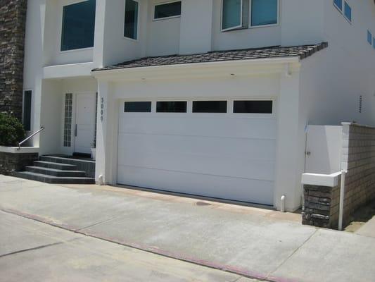 Contemporary Garage Door On Newport Beach Flush Smooth