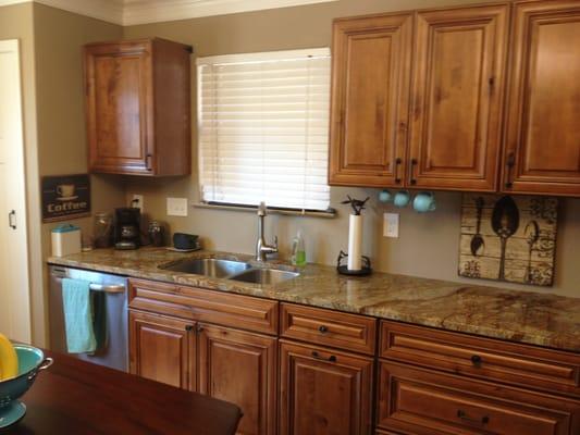 Kitchen Cabinets Knotty Distressed Maple Austin TX