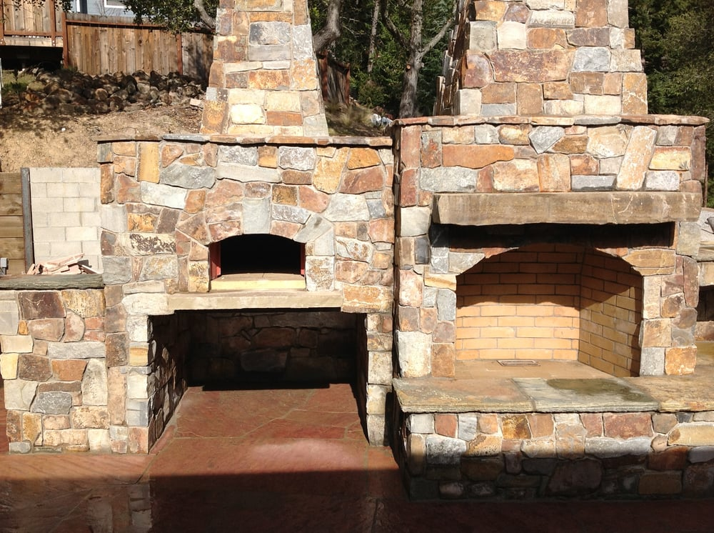 Stone Pizza Oven And Outdoor Fireplace Yelp