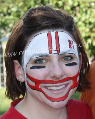 American Football Lovers Husker Football Helmet View More Pictures At Our Face Painting