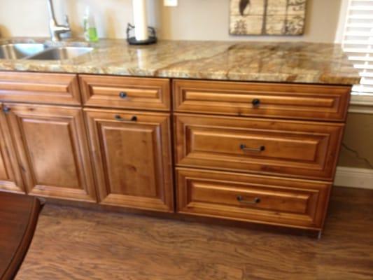 Knotty Maple Drawer Base Cabinet Austin Texas