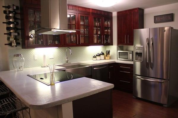 Concrete Kitchen Cabinet Spanish Afreakatheart