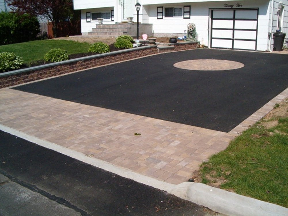 Asphalt Driveway With Paver Border Pictures 76